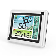 Weather Station Digital Lcd Thermometer Hygrometer Indoor Outdoor Humidity Meter