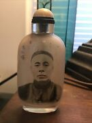 Antique Inside Drawing Snuff Bottle Signed By Ma Shaoxuan
