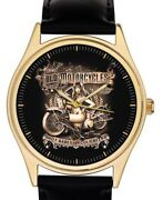Old Motorcycles Hot Babes And Cold Beer, Sepia Classic Biker Art Collectors' Watch