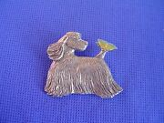 Cocker Spaniel Pin Butterfly 33c Pewter Dog Jewelry