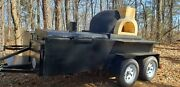 Mobile Pizza Oven Bbq Sink Trailer Dome Pizza Oven Food Truck Catering Business