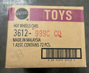 Sealed Factory Case Of 72 Mattel Hot Wheels Cars 3612-999c Cq Malaysia Toys