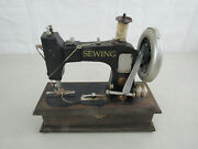 Vintage Novelty Antique Sewing Machine Sewing Accessory Box
