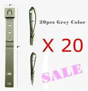 20pcs. Tactical Tailor - Short 8 Gray Malice Clips For Gerber, Buck Knife Pouch