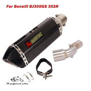 Slip For Benelli Bj300gs 302r Motorcycle System Exhaust Muffler Middle Link Pipe