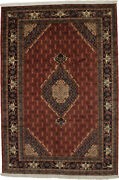 Rusty Red Vintage Farmhouse 7x10 Hand Knotted Room Size Area Rug Oriental Carpet