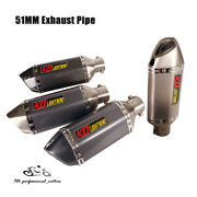 51mm Motorcycle Atv Scooter Exhaust Muffler Tail Pipe With Db Killer Short 310mm