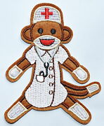 10x Monkey Nurse Embroidered Iron On Patches Appliques Doctor ≈3.23.7 Inch