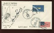 Astronaut Alan Shepard Signed Freedom 7 Comm Cover 'from Derry Nh To Space'