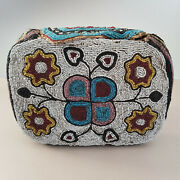 Great Antique Northern Plains/ Plateau Fully Beaded Purse Or Bag Circa 1900.