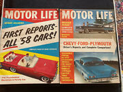 Vintage Motor Life Magazines - September And December 1957 New 1958 Cars Customs
