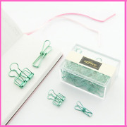 Binder Clips Hollow Out Metal Set Notes Bookmark Stationery School Office Gifts