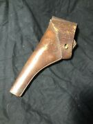 Original Pre Wwi Us Army Leather Colt Revolver Holster Rock Island Arsenal 1904