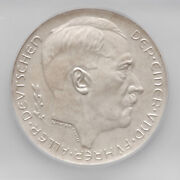 1938 Germany Third Reich Silver Coin / Medal Icg Ms63 Exonumia Commemorative