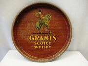Grants Scotch Whisky Vintage Advertising Tin Tray Distiller Glasgow And London