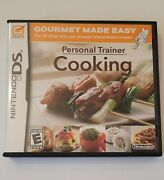 Personal Trainer Cooking Nintendo Ds 2008 In Box W/ Instruction Booklet