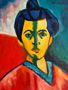 Henri Matisse Painting Oil On Canvas Signed And Stamped Hand Carved