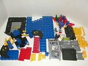 Fisher Price Trio Batman Batcave Batwing Superman Space Sled Lot Not Complete