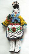 Zuni Beaded Olla Maiden Flower Apron Great Detail Cape 5.5 Inch Free Ship