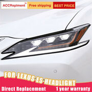 2pcs For Lexus Es 2018-2021 Headlights Assembly Full Led Lens Projector Led Drl