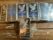 🔥 10 Oz. Silvertowne Mint Fine Silver Bar Bullion Bald Eagle Design .999 Sealed