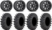 Fuel Maverick Bdlk Bk 14 Wheels 32 Outback Max Tires Polaris Ranger Xp 9/1k