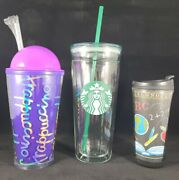 Starbucks Venti Clear Glass Double Wall Cold/iced Cup Tumbler 20 Oz+ More