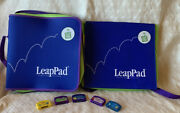 Two Leap Frog Leappad Learning System Bags 5 Cartridges Games Euc