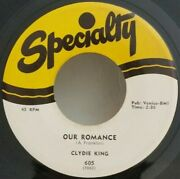Clydie King Our Romance / Written On The Wall Rare Blues 45 Plays Vg++no Noise