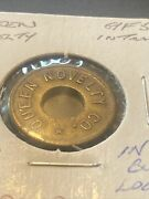 Vintage Coin Queens Novelty Co. Hole In Middle 5 Cents Trade Metal Token T07