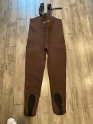 Simms Neoprene Form Foot Chest Waders Fly Fishing Size Llk Made In Usa