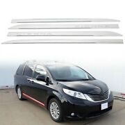 For Toyota Sienna 2011-2020 Abs Outside Door Body Side Molding Chrome Trim 4 Pcs