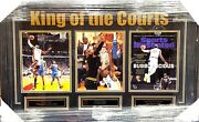 Los Angeles Lakers Lebron James King Of The Courts Framed Ltd. Ed. Collage Heat