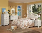 Twin Bedroom Set White Wicker Rattan 5 Piece With Glass Tops Tropical Bedroom