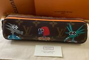 Louis Vuitton Friends Elizabeth Pencil Pouch Gi0580 Rare And Sold Out New