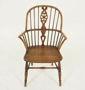 Antique Elm And Yew Windsor Arm Chair Scotland 1830 B2281