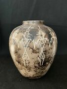 Authentic Navajo Horsehair Pottery Approx. 6andrdquoh X 5andrdquow W/ 2andrdquo Opening Hhp3-8