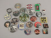 Huge 24 Pc Lot Vintage 70s 80s Beatles Pinback Button Pins And Keychain Some Rare