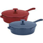 Cuisinart 12 4.25 Qt. Enameled Cast Iron Chicken Fryer Pan With Lid