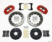 Wilwood Narrow Superlite 6r Front Hat Kit 12.88in Drill Red Honda S2000