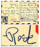 Rose Kennedy Autograph Letter Signed Signature Family