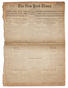 Wwii ''the New York Times'' Newspaper -- 17 August 1945