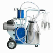 25l Electric Milking Machine For Cows Stainless Steel Bucket Milker New Sale