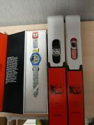 Swatch Disney Mickey Mouse X Keith Haring Watch -2021 Complete Set New
