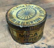1890and039s Early 1900and039s Original Standard Oil Mica Axle Grease 1 Lb. Can