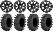 Sti Hd9 14 Bdlk Wheels Mb 6+1 30 Outback Max Tires Can-am Renegade Outlander