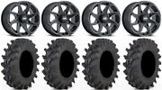 Itp Twister 14 Wheels Milled 30 Outback Max Tires Kawasaki Brute Force Irs