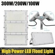 Led Floodlight 6000k 100-300w Waterproof Outdoor Security Lamp Bright Cool White