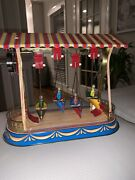 Germany Tin Wind Up Reproduction Replica Antique Boat Swing Toy