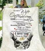 To My Wife I Love You Forever And Always From Husband Fleece Blanket